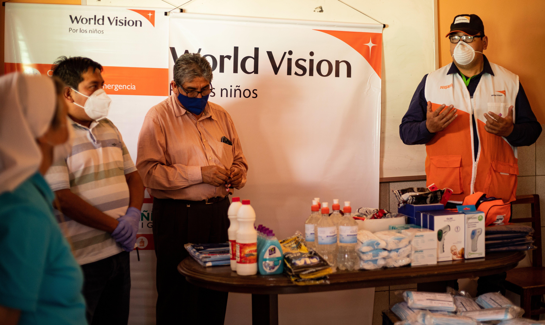 World Vision entrega material de bioseguridada ante COVID-19